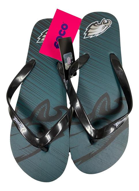 Philadelphia Eagles Men's Diagonal Unisex Beach Flip Flop Sandals