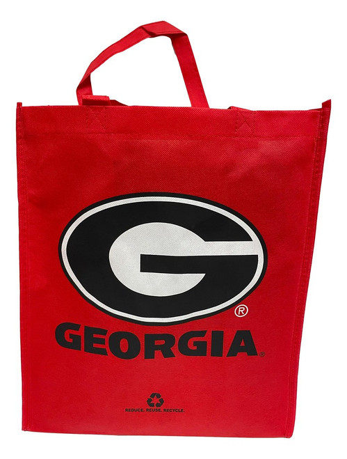 Georgia Bulldogs Printed Non-Woven Reusable Grocery Tote Bag (2 Pack)