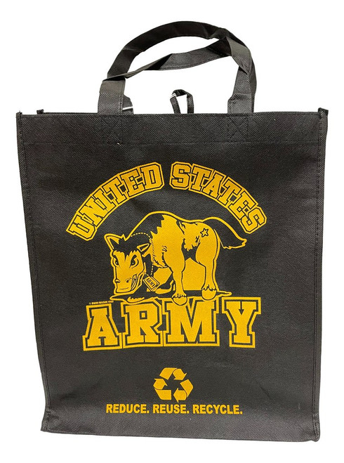 ARMY Printed Non-Woven Polypropylene Reusable Grocery Tote Bag (2 Pack)