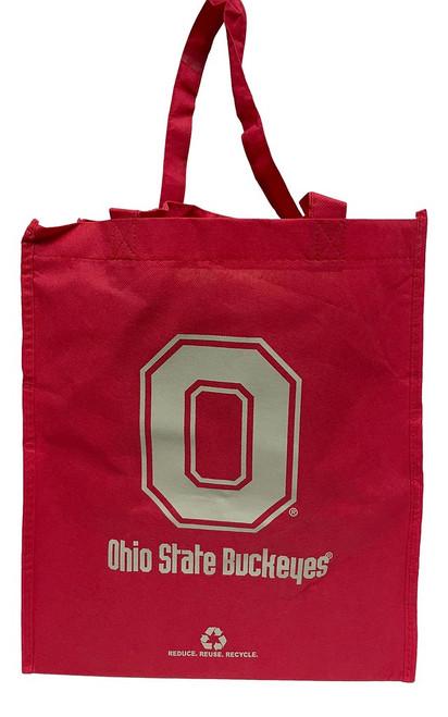 Ohio State Buckeyes Printed Non-Woven Polypropylene Reusable Grocery Tote Bag
