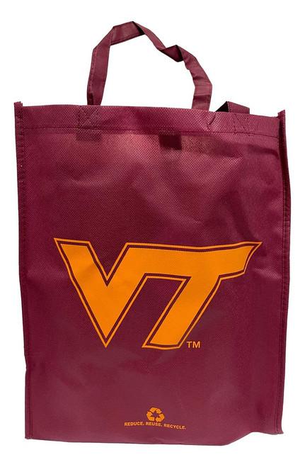 Virginia Tech Hokies Printed Non-Woven Polypropylene Reusable Grocery Tote Bag