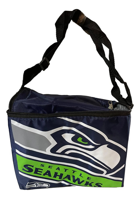 Seattle Seahawks Big Logo Stripe Insulated Lunch Bag / 6 Pack Cooler