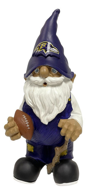 Baltimore Ravens Garden Gnome Holding Football Appox 8 inches Tall