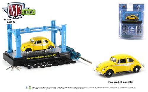 M2 Machines 1:64 Model Kit Release 40 1967 VW Beetle Deluxe USA Model