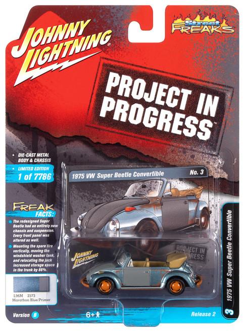 Johnny Lightning 1:64 Street Freaks Ver B 1975 VW Super Beetle Blue Primer