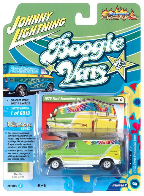 Johnny Lightning 1:64 Street Freaks Ver B 1976 Ford Econoline Van Green