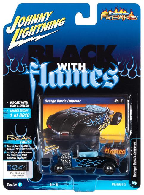 Johnny Lightning 1:64 Street Freaks Ver B George Barris Emperor Black w Flames