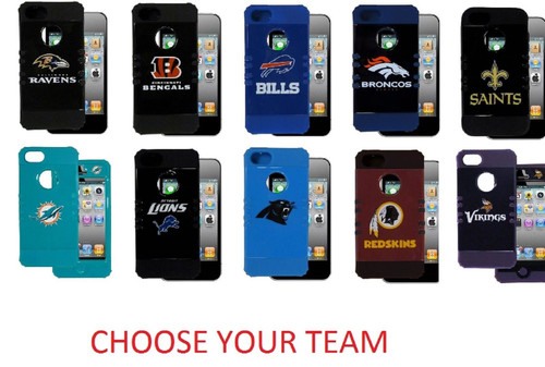 NFL iPhone 5 Rocker Rigid/Silcone Case Phone Cover Pick Your Team Two Pieces