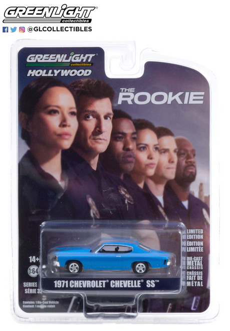 Greenlight 1:64 Hollywood Series 32 1971 Chevrolet Chevelle SS The Rookie