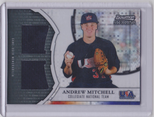 2011 Bowman Sterling Andrew Mitchell USA Dual Patch 166/199 XOR-AM