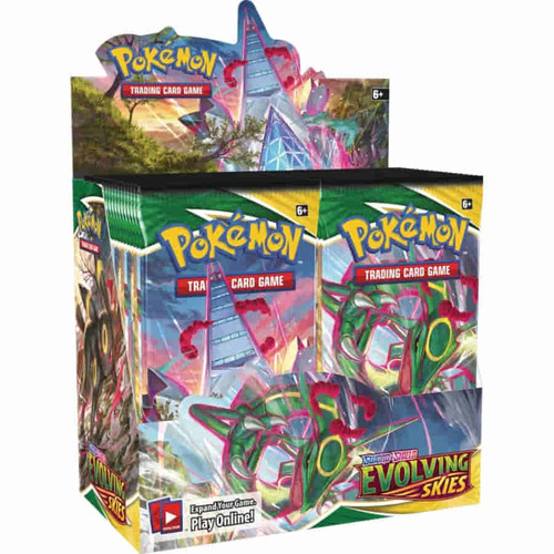 POKEMON TGC: SWORD AND SHIELD EVOLVING SKIES Booster Box Factory Sealed