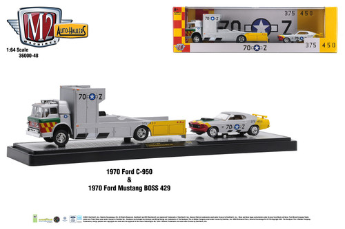 M2 Machines Auto Hauler 48 1970 Ford C950 & 1970 Ford Mustang Boss 429