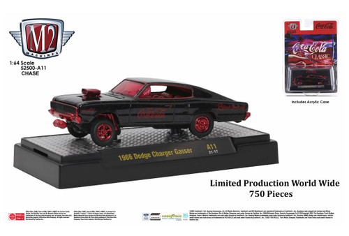 M2 Machines Coca-Cola Release A11 1966 Dodge Charger Gasser CHASE