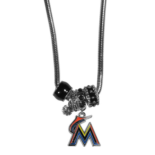 Officially Licensed MLB Team Euro Bead Necklace Choose Your Team