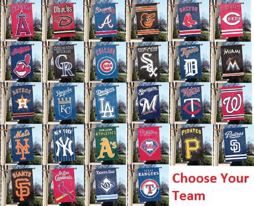 "MLB Applique Banner - Choose Your Team -- 44"" x 28"""