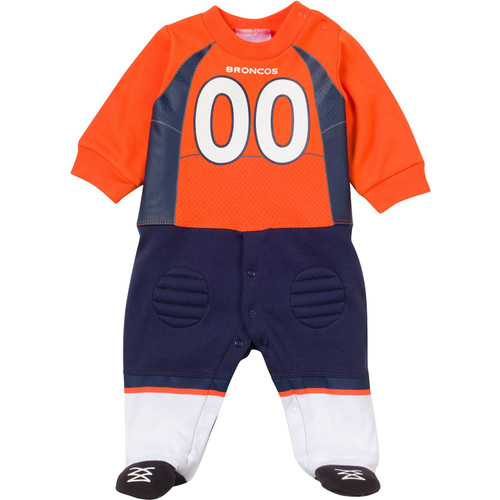 NFL Denver Broncos Footysuit with Feet Sleeper - 0-3 Months and 3-6 Months