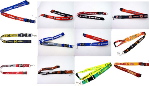 NCAA Football Team Logo Reversible Lanyard Pick Your Team