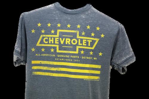 Chevrolet Yellow Tee Luv Tee Shirt Short Sleeve