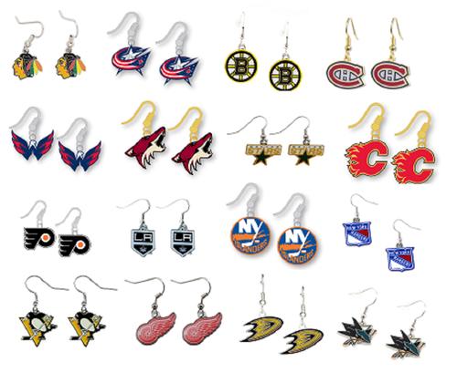 Officially Licensed NHL Hockey Team Dangle Earrings - Pick Your Team