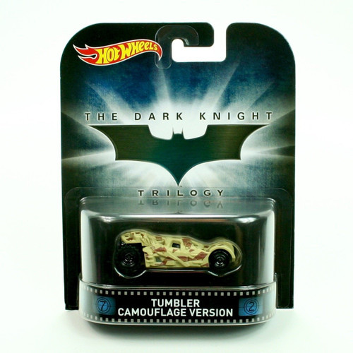 Hot Wheels 1:64 Scale Retro Entertainment Dark Knight Tumbler Camouflage Version