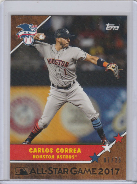 2017 Topps On Demand All Star #5W Carlos Correa Houston Astros 7/25