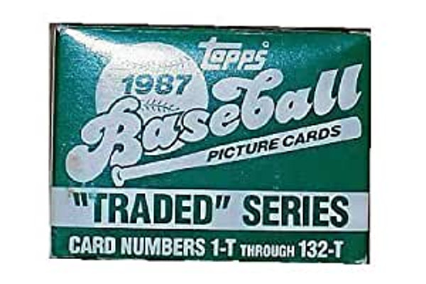 1987 Topps Baseball Traded Set 132 Trading Cards