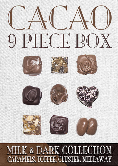 Cacao Collection Milk & Dark 9 Piece Box
