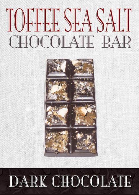 Dark Chocolate Toffee Sea Salt Bar