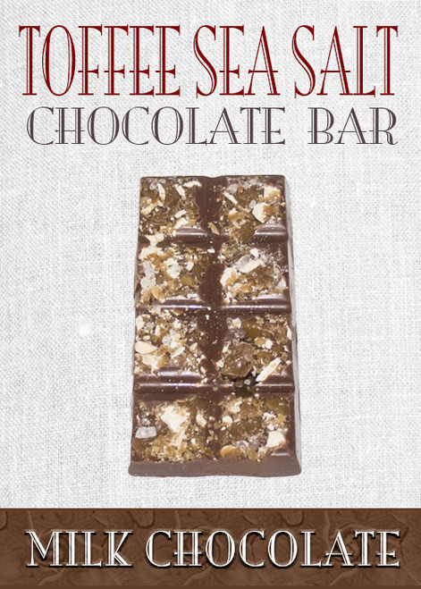 Milk Chocolate Toffee Sea Salt Bar