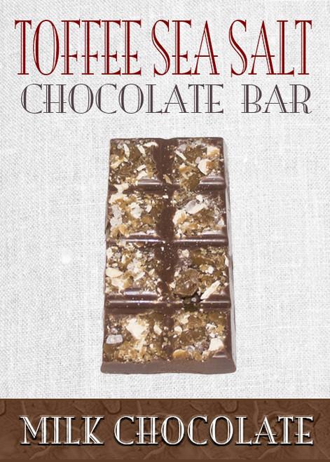 Milk Chocolate Toffee Sea Salt Bar