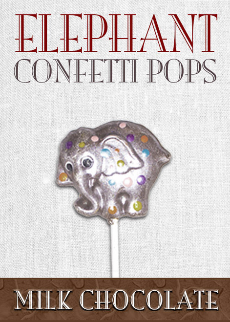 Milk Chocolate Elephant Pop Confetti