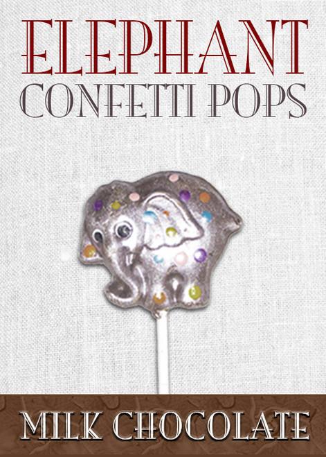 Milk Chocolate Elephant Pop Confetti