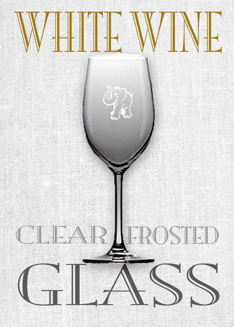Red Elephant White Wine Glass