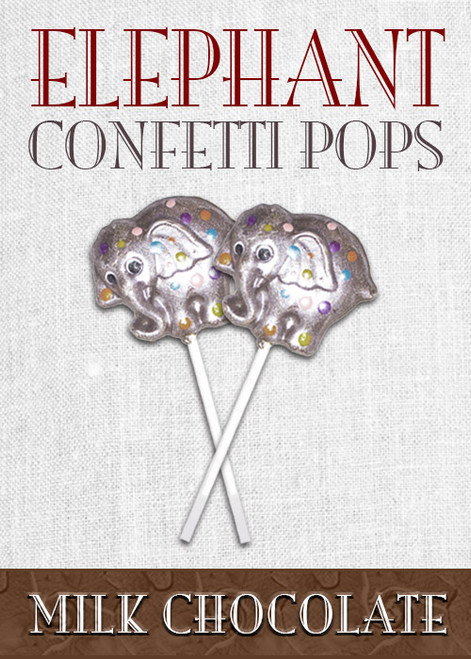 Decorated Chocolate Elephant Pops (2 or More)