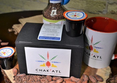 Ivory Coast Grind put into K-CUPs for fast brewing. This mellow drink bring you all the health benefits of chocolate without the calories or sugars.  1 Box has 12 K-CUPS ready for use.