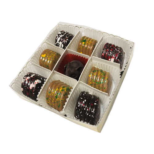 9pc Packer and Badger Truffles with a Solid Elephant Dark Chocolate Center