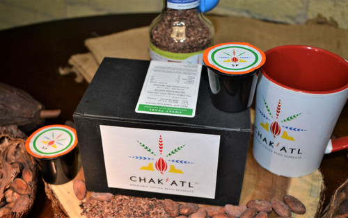 1 box of 12 K Cups - One K Cup makes one 8 ounce cup of Chak Atl  This is our Sweet Pearl made with natural stevia for adding sweetness.