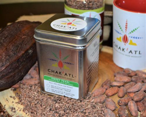 Chak'Atl - Sweet Pearl - Cocoa Bean Grind - 9 oz - serves 36 Metal Tin
