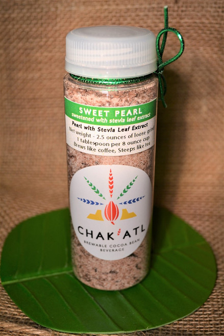 Chak'Atl - Sweet Pearl - Cocoa Bean Grind - 2.5 oz - serves 10 Brew like coffee or steep like a tea.