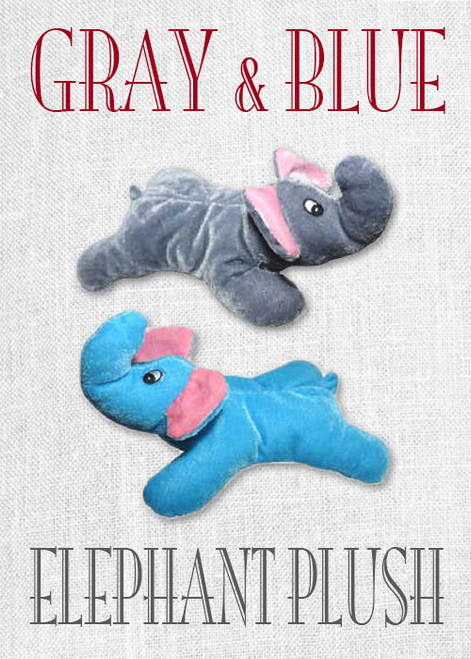 Elephant Plush Toys (Gray & Blue)
