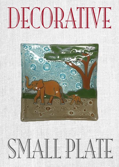 Small Decorative Elephant Plate