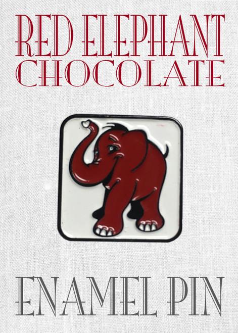 Red Elephant Chocolate Enamel Pin