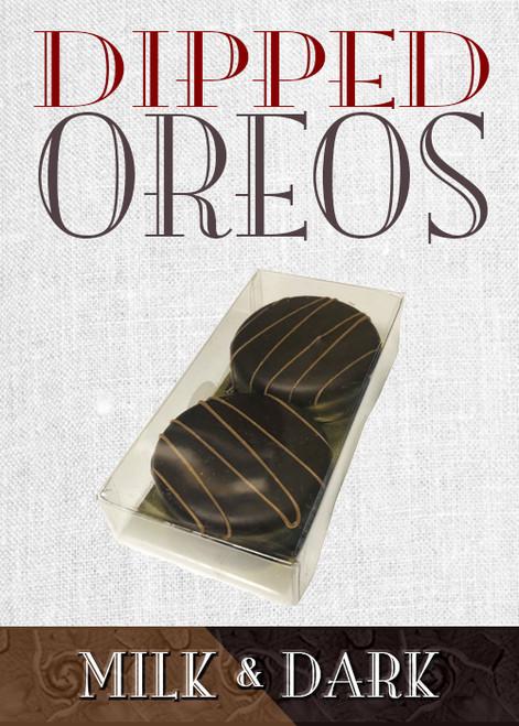 2 Piece Dark Chocolate Dipped Oreos