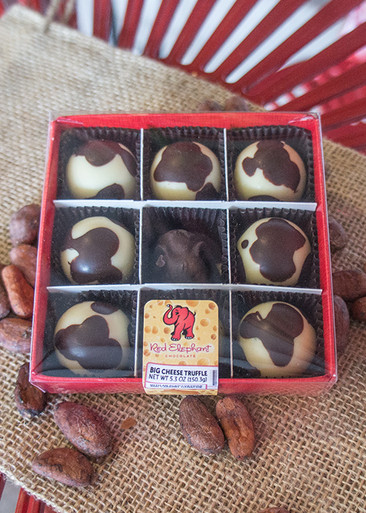 Wisconsin Big Cheese Truffles 9 Piece Box Red Elephant