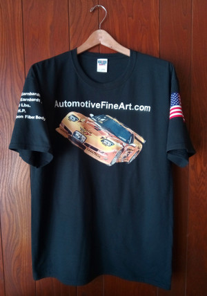 AutomotiveFineArt.com T-shirt (BLACK)