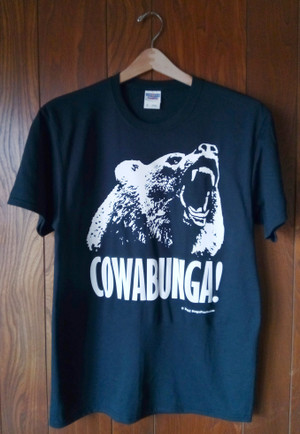 COWABUNGA T-SHIRT (BLACK)