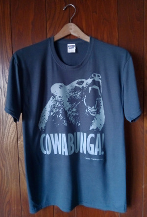 COWABUNGA (GRAY T-SHIRT)