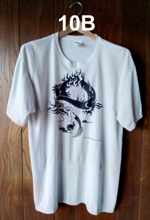 FIRE DRAGON (SILVER T-SHIRT)