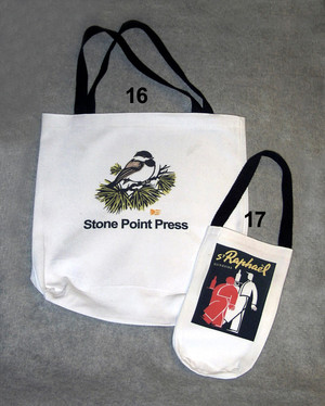 TOTE BAGS AND WINE TOTE BAGS (WHITE ONLY)
