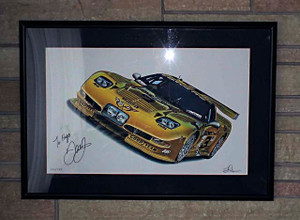 "2004 CORVETTE 'C5-R' ""THE LAST CORVETTE DALE RACED"" GICLEE (FRAMED)"
